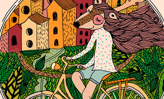 EnBiciArte. Paseo en bici de Valeria Peña