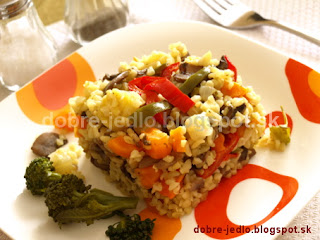 Zeleninový bulgur so šampiňónmi - recepty