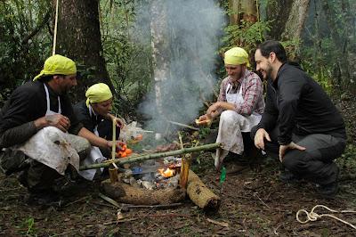 Churrasqueiros se aventuram na selva - Divulgação/SBT
