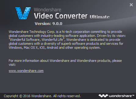 Wondershare Video Converter Ultimate 9 Serial Key