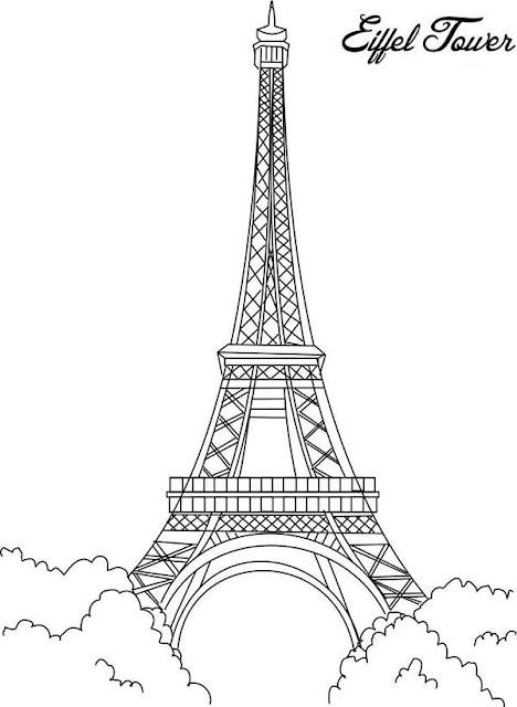 Top coloriage de la tour eiffel ã imprimer - 28 images - 36 dessins de  LB57