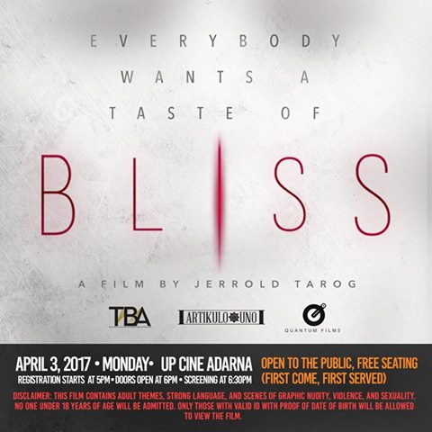 Bliss - UP Cine Adarna Screening
