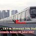 MRT, LRT & Monorail 50% Diskaun Bermula Selasa 18 Julai 2017