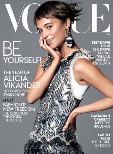 Alicia Vikander – Vogue Magazine US January 2016 cover