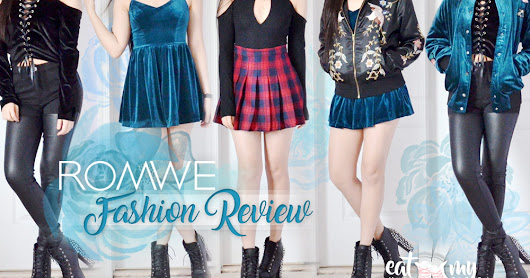 Romwe Fashion Review: Luxe Velvet Looks + Must-Haves for 2017