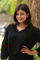 Actress Hebah Patel Stills in Black Mini Dress at Angel Movie Teaser Launch  0050.JPG