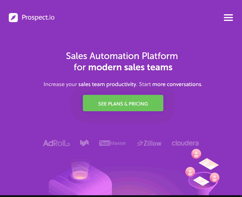 Prospect.io helps increase email lead capture and improve sales