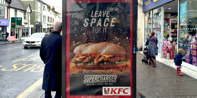 Bus Stop poster for KFC's 'Leave Space For It' campaign