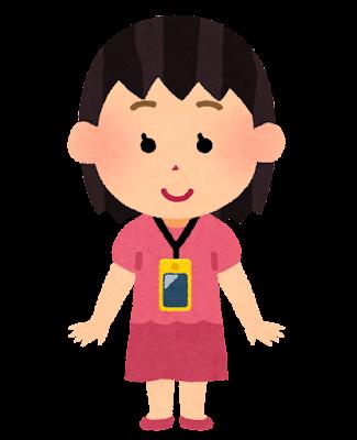 携帯電話を首から下げる子供のイラスト(女の子)