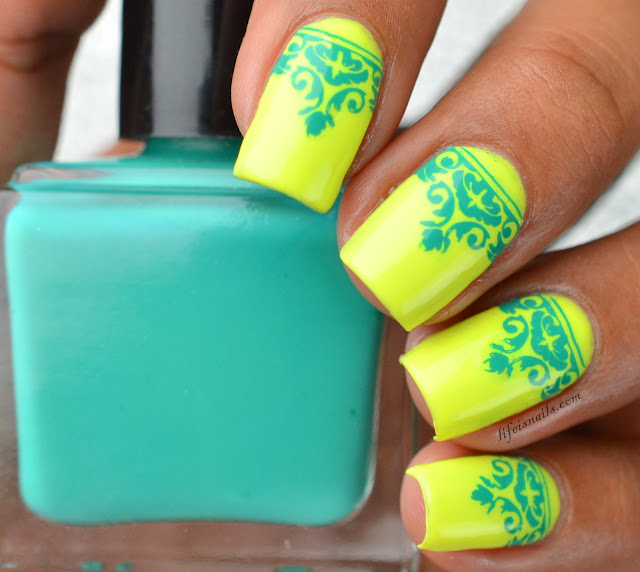 BPL008 Neon summer nails