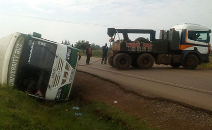 Kampala University bus involves in accident injuring 11