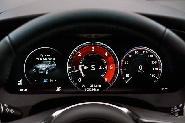 Jaguar F-Pace Brasil - interior - painel