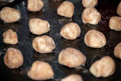 snicker doodle cookie dough balls