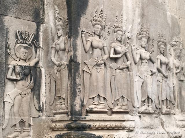 Devatas en Angkor Wat por El Guisante Verde Project