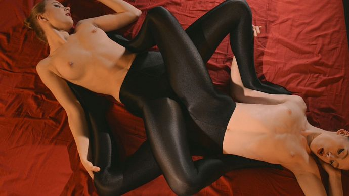 StraplessDildo - Maria Pie, Rossy Bush - Sex In Silky Black Pantyhose - idols