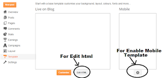 How to show widgets in blogger mobile template visible page eliment in blogger mobile template