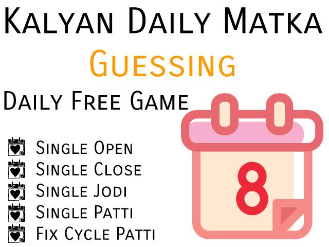 Kalyan Matka Sultan Matka Tips Today Free Guessing