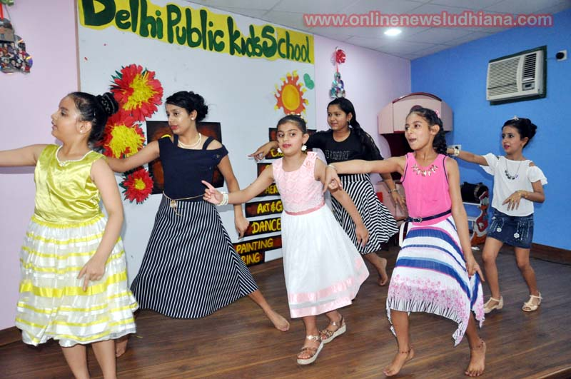 Kids dance during Summer Camp organised by Delhi Public Kids School