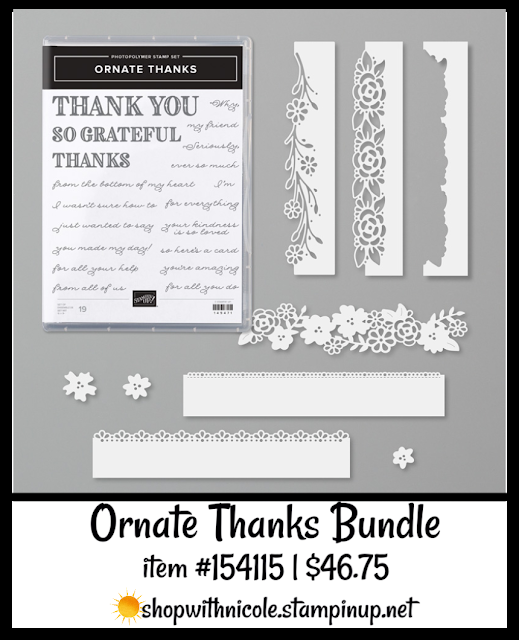 Ornate Thanks Bundle | item 154115 | $46.75| Nicole Steele The Joyful Stamper
