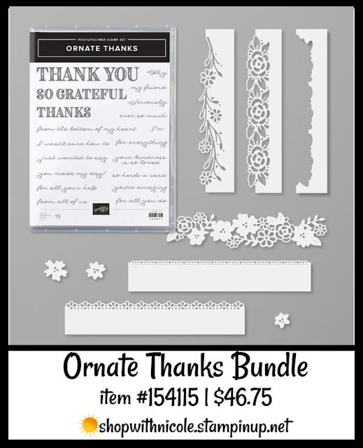 Ornate Thanks Bundle | item 154115 | $46.75| Nicole Steele The Joyful Stamper