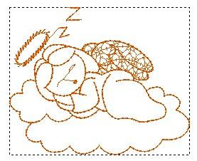 Bordado Grátis - Anjos Crivo -Anjo dormindo