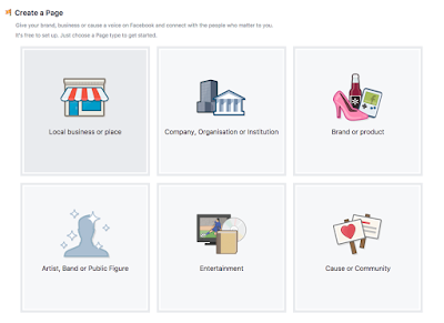 create a business page on Facebok