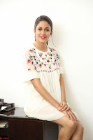 Lavanya Tripathi in Summer Style Spicy Short White Dress at her Interview  Exclusive 123.JPG