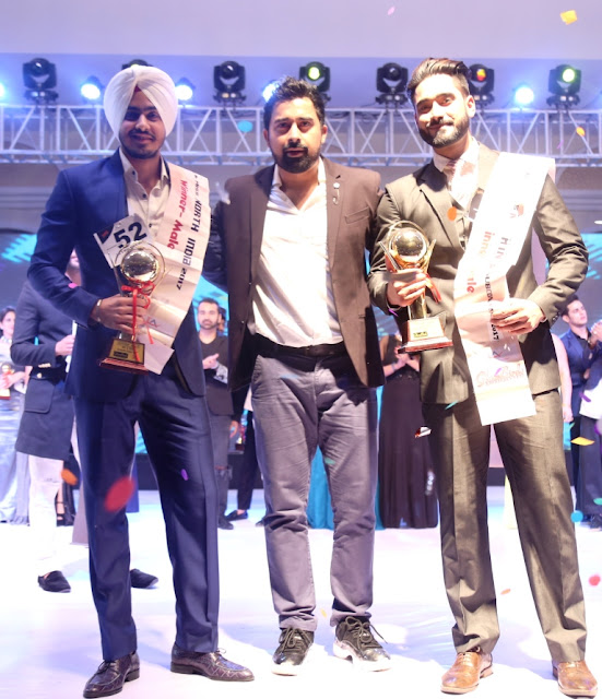Mr North India subcontinent Udayveer Singh with Ranvijay Singh and Rohandeep Singh-winner of Mr North India 2017