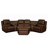 bxs brown top grain leather home theater curved motion sectional sofas
