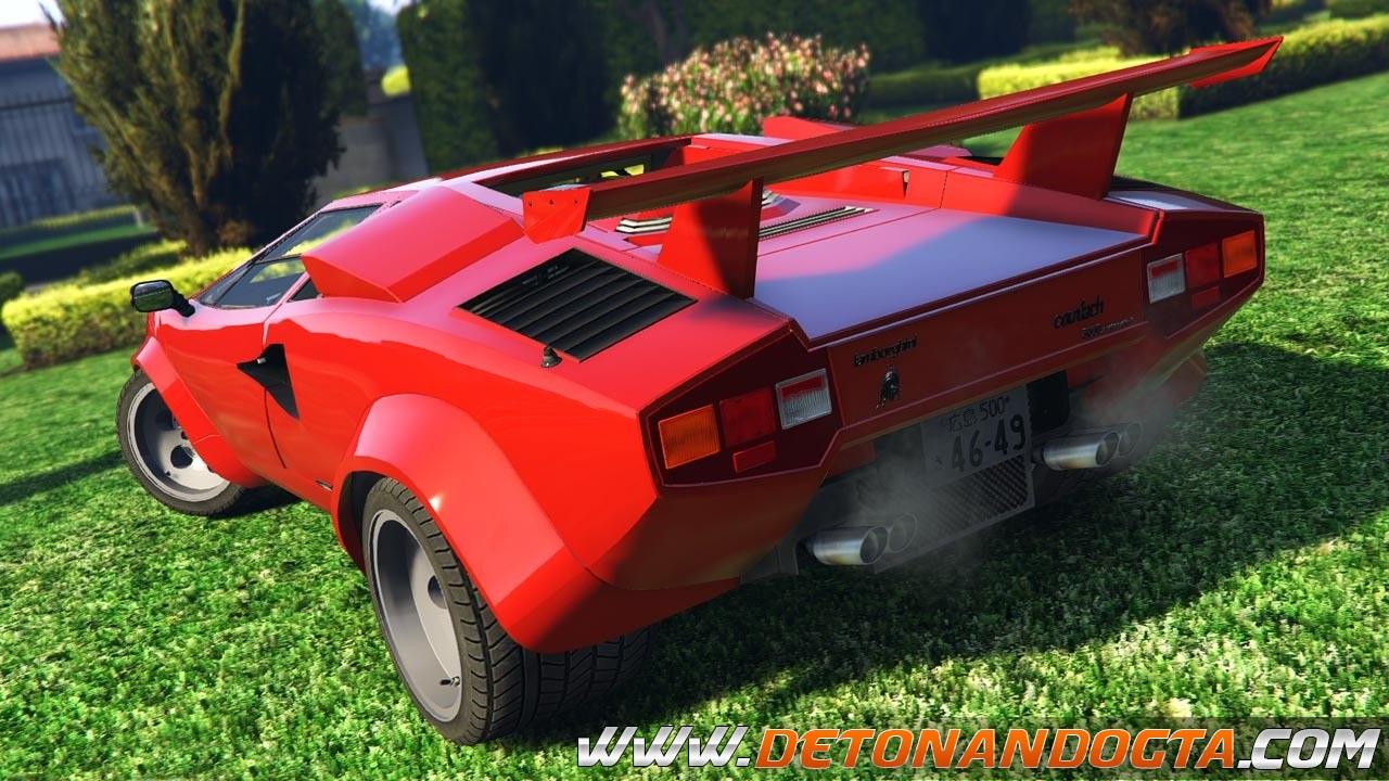 Gta V Lamborghini Countach Qv Add On Detonando Gta Mods Para