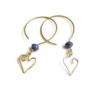 Asymmetrical Heart Dangle Earrings