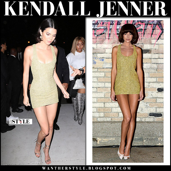 Kenall Jenner in gold mini dress august getty atelier new york fashion week september 7 2017