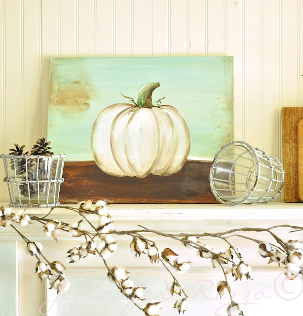 Pumpkin canvas DIY.How to paint a pumpkin canvas, art skills not required!!!