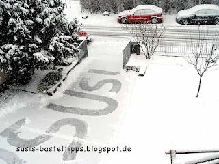 Liebeserklärung in Schnee geschaufelt, Foto von Unabhängiger Stampin' Up! Demonstratorin Susanne McDonald