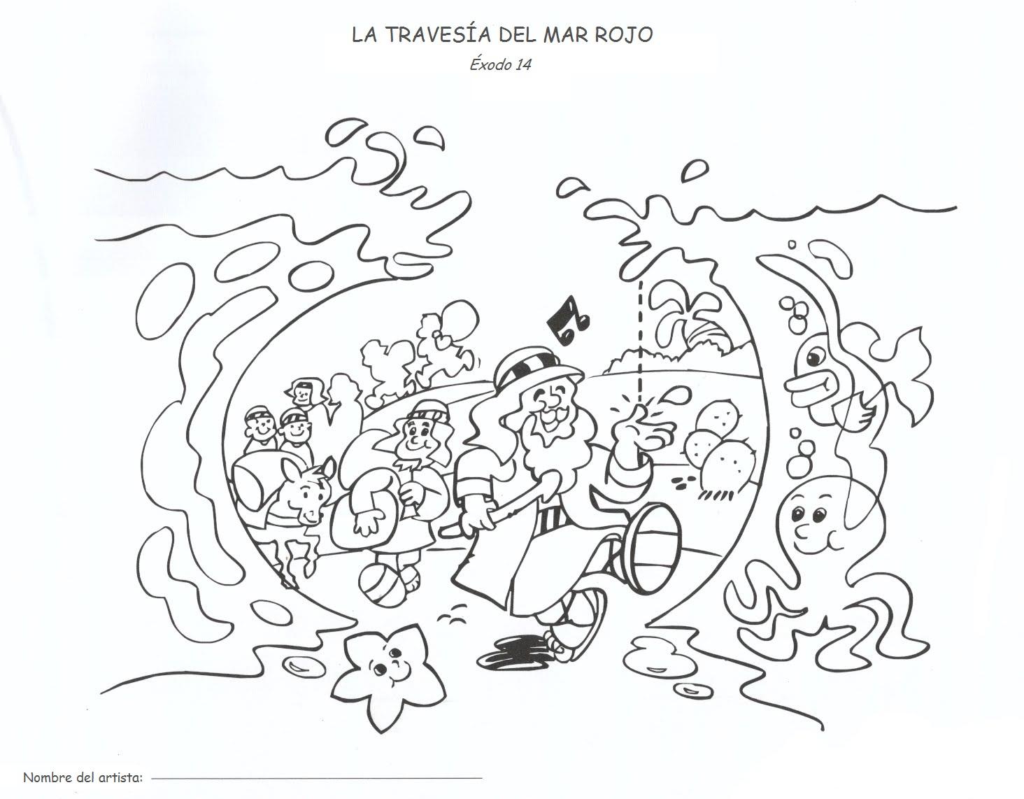 Me Aburre La Religion Colorear Moises Cruza El Mar Rojo