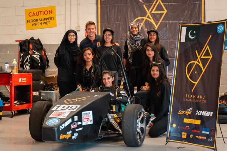 Pakistan's Girls  from NUST have won Spirit of Formula Student Award