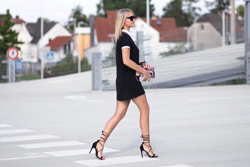 street style, streetstyle, fashion, street fashion, moda, styl, sukienka z kołnierzykiem, elegancka sukienka