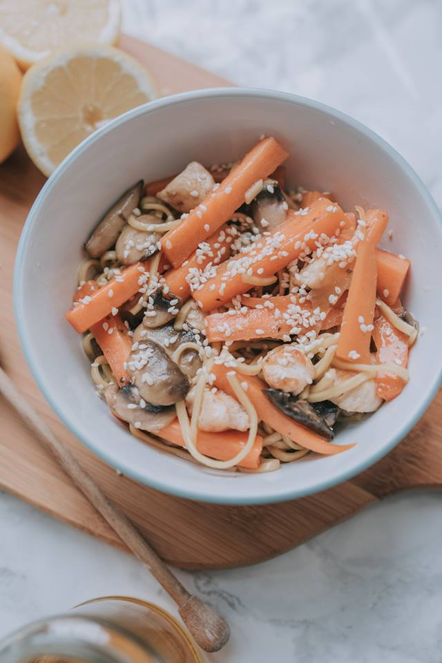 Honey Lemon And Sesame Noodles