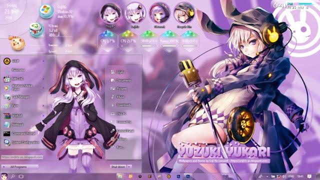 Windows 10 Ver. 1703 Theme Yuzuki Yukari by Enji Riz