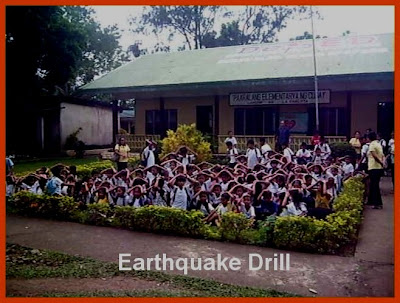 earthquake drill of the pupils