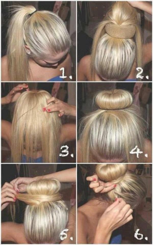 Style rambut wanita gaya bun / ikat