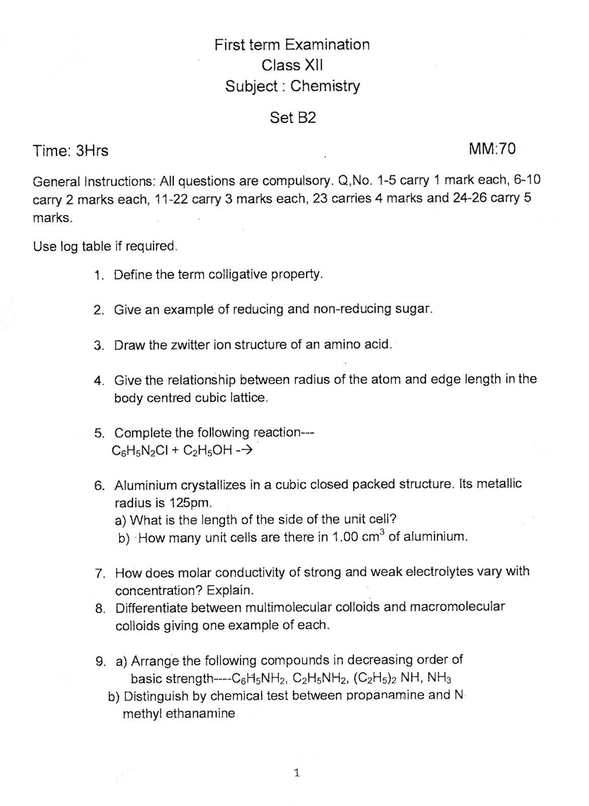 SCIENCE4all: Class XII Chemistry DELHI POLICE PUBLIC SCHOOL