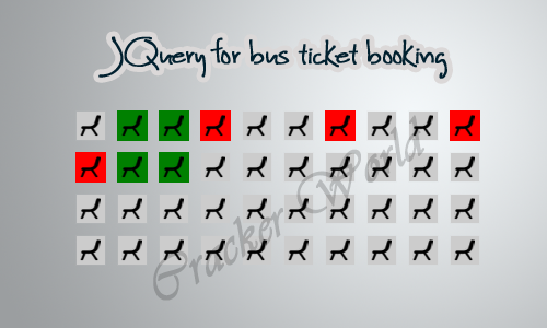JQuery for bus ticket booking