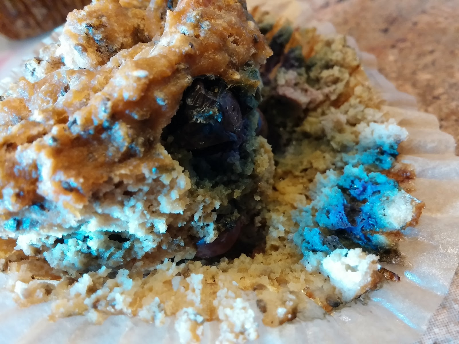 Challenge Compliant Blueberry Chia Coconut Applesauce Breakfast Muffins Oh My I Nourished In 30 I Paleo Vegeo