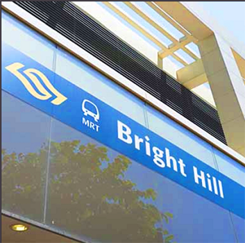 Bright Hill MRT near Thomson Impressions