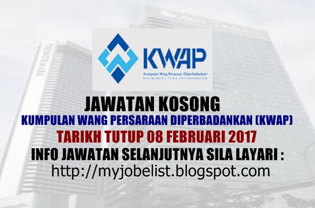 Jawatan Kosong Kumpulan Wang Persaraan (Diperbadankan) Februari 2017