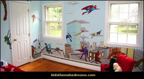 Superheroes bedroom ideas - batman - spiderman - superman decor