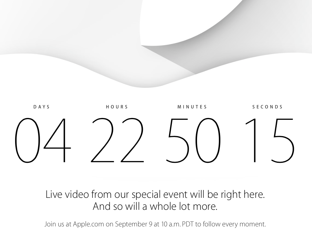 Apple Will Live Stream September 9 iPhone Event