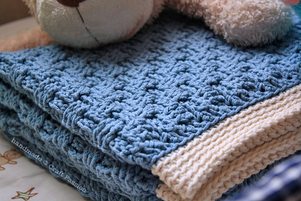 Crochet For Free Basket Weave Baby Blanket