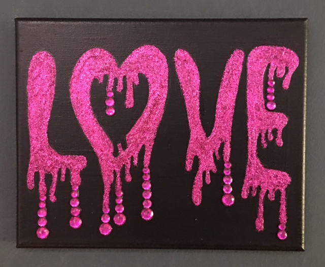 Library Arts: Glitter Love Painting